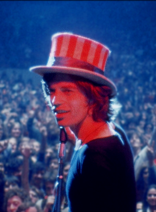 Mick Jagger onstage during The Rolling Stones 1969 American Tour (x)