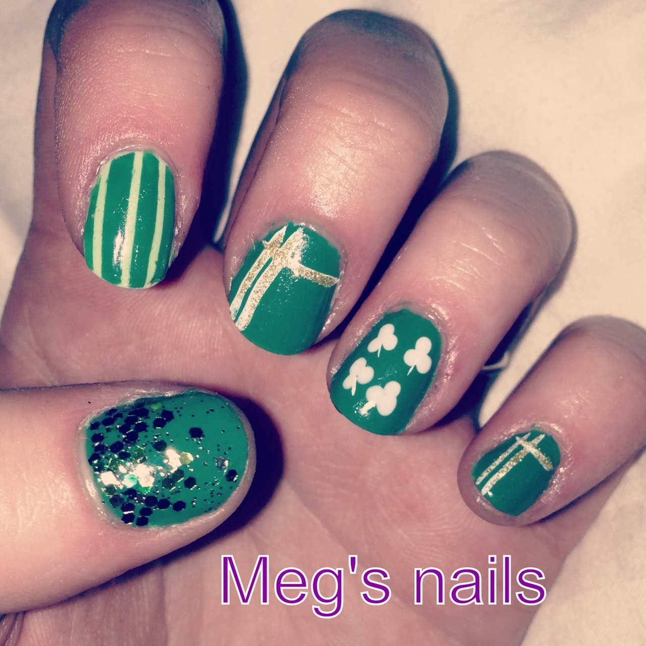 Some manis I did for St. Patty's Day!