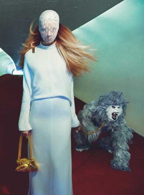 """Terminal"" Julia Frauche by Greg Kadel for Numéro #141 March 2013"