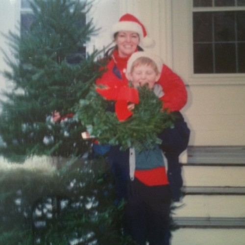 Christmas '93. Me and my mom.