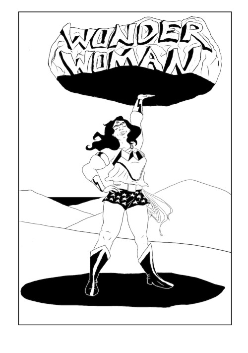 Project Rooftop are having a fan art friday for Wonder Woman, so I drew the laziest combination of costumes possible. I like to think it's what Wonder Women would wear to Ikea on a Sunday morning.