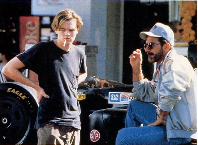 lovelyleonardodicaprio:  Leo smoking while filming Marvin's Room