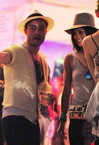 welovejessicaszohr:  Jessica Szohr and Ed Westwick ,at the Coachella Festival