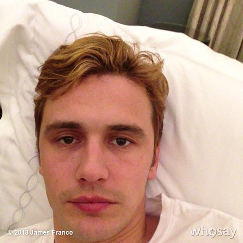 jamesfranco:  View more James Franco on WhoSay   you look different with blonde hair