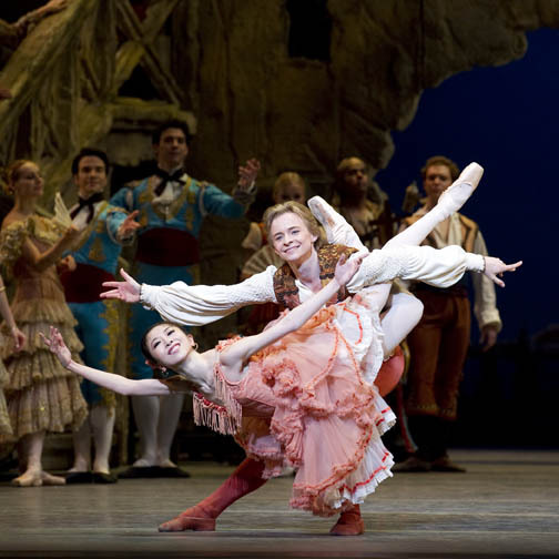 Yuriko Kajiya and Daniil Simkin in Don Quixote.Photo: Gene Schiavone.