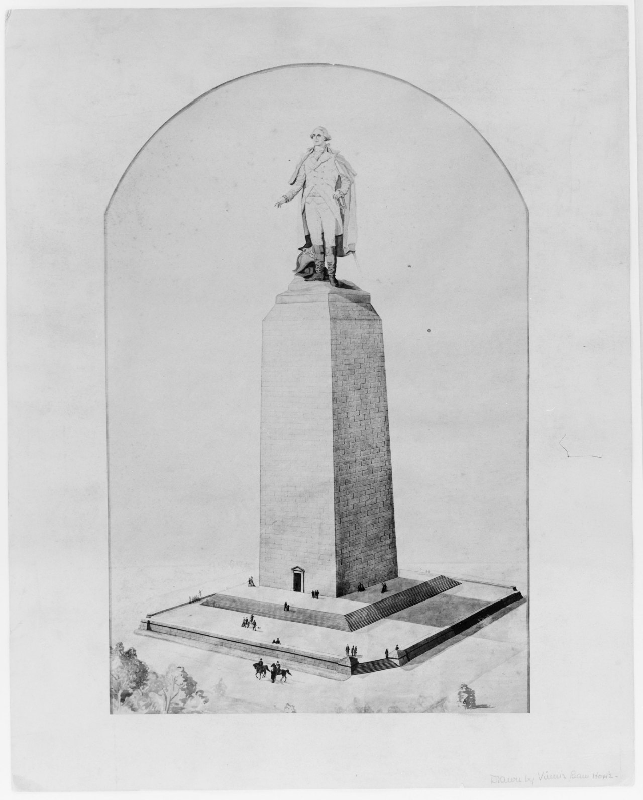 Illustration for a reuse of the incomplete Washington Monument, Washington D.C.