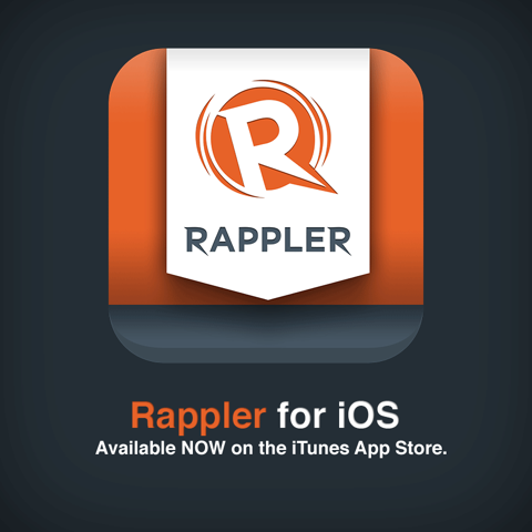 rappler:  Good news folks! Rappler for iOS is now available on the iTunes App Store. Download it here and check it out!