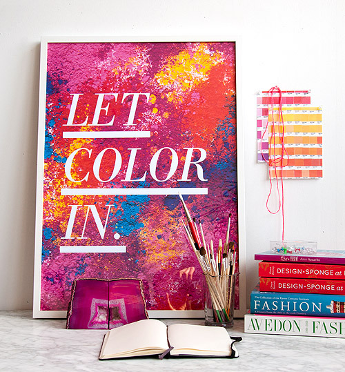 DIY PROJECT: HOLI-INSPIRED POSTERS