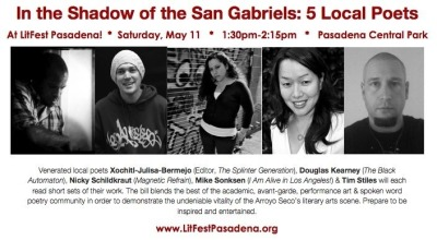 In the Shadow  of the San Gabriel's  At LitFest Pasadena  this Saturday   1.30pm
