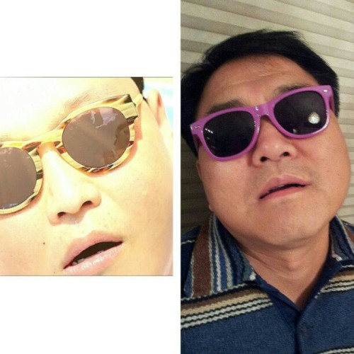 My dad is the older version of Psy  #gangnamstyle #korean