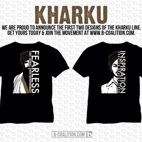 I'm pleased to announce that the KHARKU line is now out!! We hope you enjoy & support the first 2 designs. #kharku #punjab #punjabi #sikh #sikhi #singh #kaur #turban #history #revolution #freedom #bhagat #bhindranwale #india #panjab #clothing #shirt #shaheed #tshirt #graphic #graphictee #fashion #bhangra #desi #inkalaab