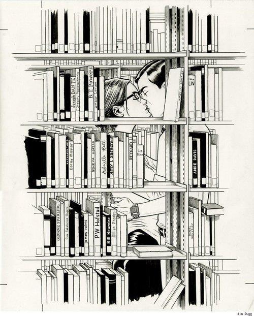 the library.  artist unknown but def appreciated xo