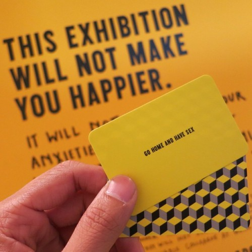 thetktimes:  #TheHappyShow || Thanks for the suggestion #StefanSagmeister… 😉 (at MOCA Pacific Design Center)