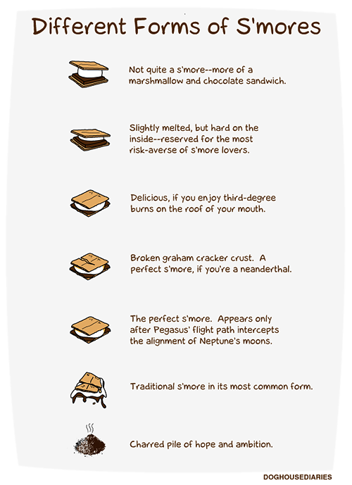 thecakebar:  nevver:  Different Forms of S'mores  the last one is my fav!