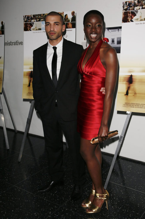 "negritaaa:  inthylove:  Haaz Sleiman and Danai Gurira (they were the two stars of the film ""The Visitor"")  Damn Danai, get it!"