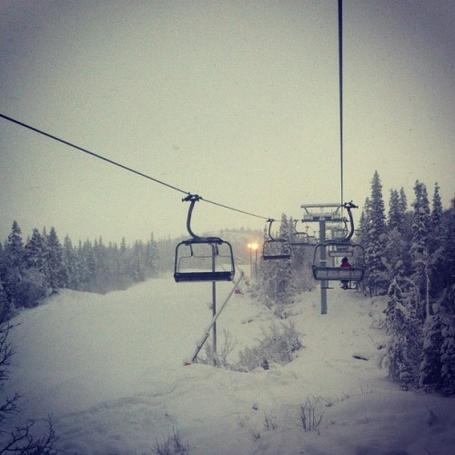 Pudder:-) #gaustablikk #pow #powder (at Gaustablikk Skisenter)
