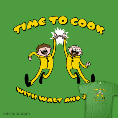 shirtoid:  Adventure Cook by JBaz is $10 today only (1/28) at TeeFury  I wish the royal blue ones came for men, too.