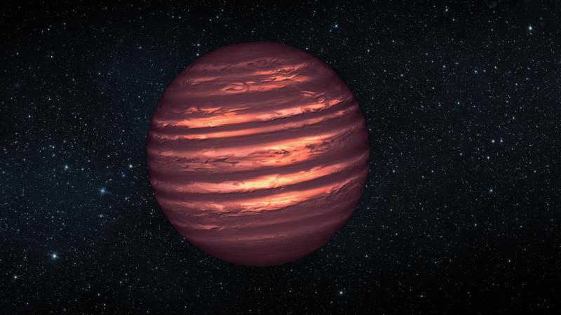 "thenewenlightenmentage:   NASA Telescopes See Weather Patterns in Brown Dwarf Jan. 8, 2013 — Astronomers using NASA's Spitzer and Hubble space telescopes have probed the stormy atmosphere of a brown dwarf, creating the most detailed ""weather map"" yet for this class of cool, star-like orbs. The forecast shows wind-driven, planet-sized clouds enshrouding these strange worlds. Continue Reading"