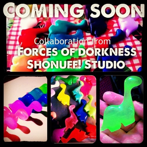 Collab resins from #shonuffstudio and #forcesofdorkness dropping soon! #custom #toy #dinosaur