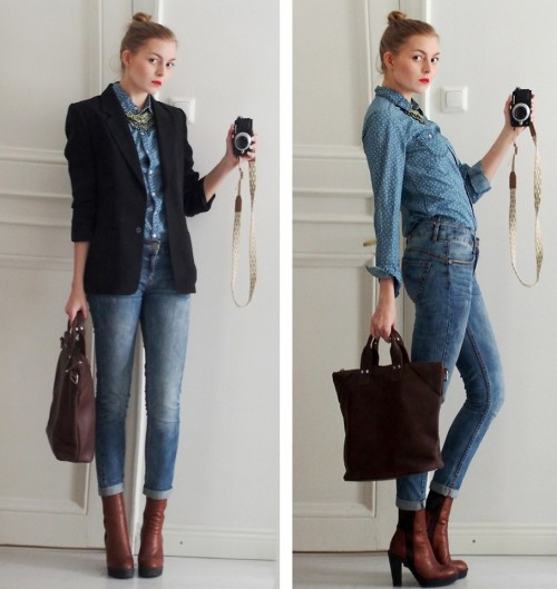 lookbookdotnu:  Denim Day (by Jenni R.)