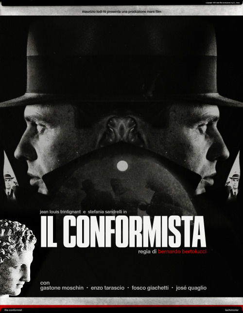 """The Conformist"" A Film by Bernardo Bertolucci   A collaboration with Interiors Journal (Issue # 16) focuses on Bertolucci's 1970 Masterpiece The Conformist. Head over to their website to read the entire Analysis of one of the films major scenes, and to see my New Poster for the Journal.  A Big Thanks goes to Mehruss and Armen @ www.INTJournal.com  For more info : Interiorsjournal@gmail.com"