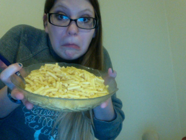 I told myself I would make mac and cheese because I would have leftovers for tomorrow…instead I'm eating the whole box!