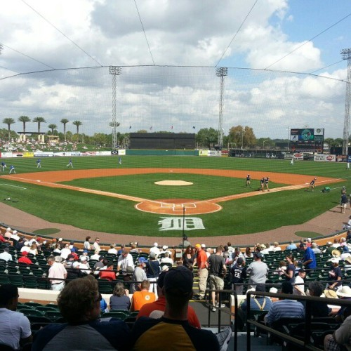 Take me out to the ball game! Lakeland is so lucky to have the Detroit Tigers un town :) (at Joker Marchant Stadium)