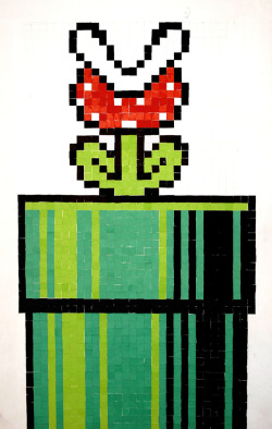 it8bit:  Piranha Plant Collage Watch the creation here. Created by Iara Costa and Fernando Vasconcelos