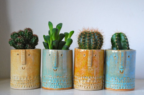 etsypix:  Little succulent or cacti pot by AtelierStellaLondon