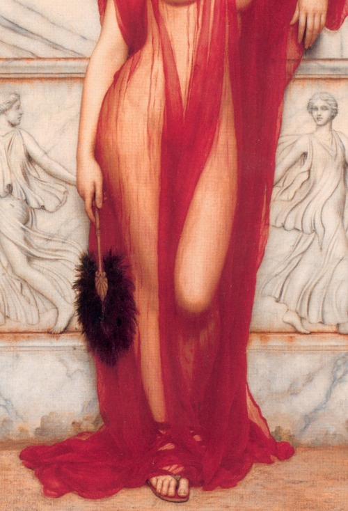 JOHN WILLIAM GODWARD, Athenais, 1908 (detail)