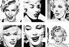 One of Marilyn Monroe's adorable habits: licking her upper lip.