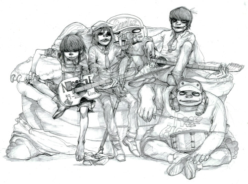 Gorillaz Sketch by ~kamizH