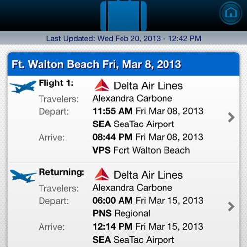 Hello Florida! Can't wait to spend Spring Break with two of my favorite people :) see you in 16 days!