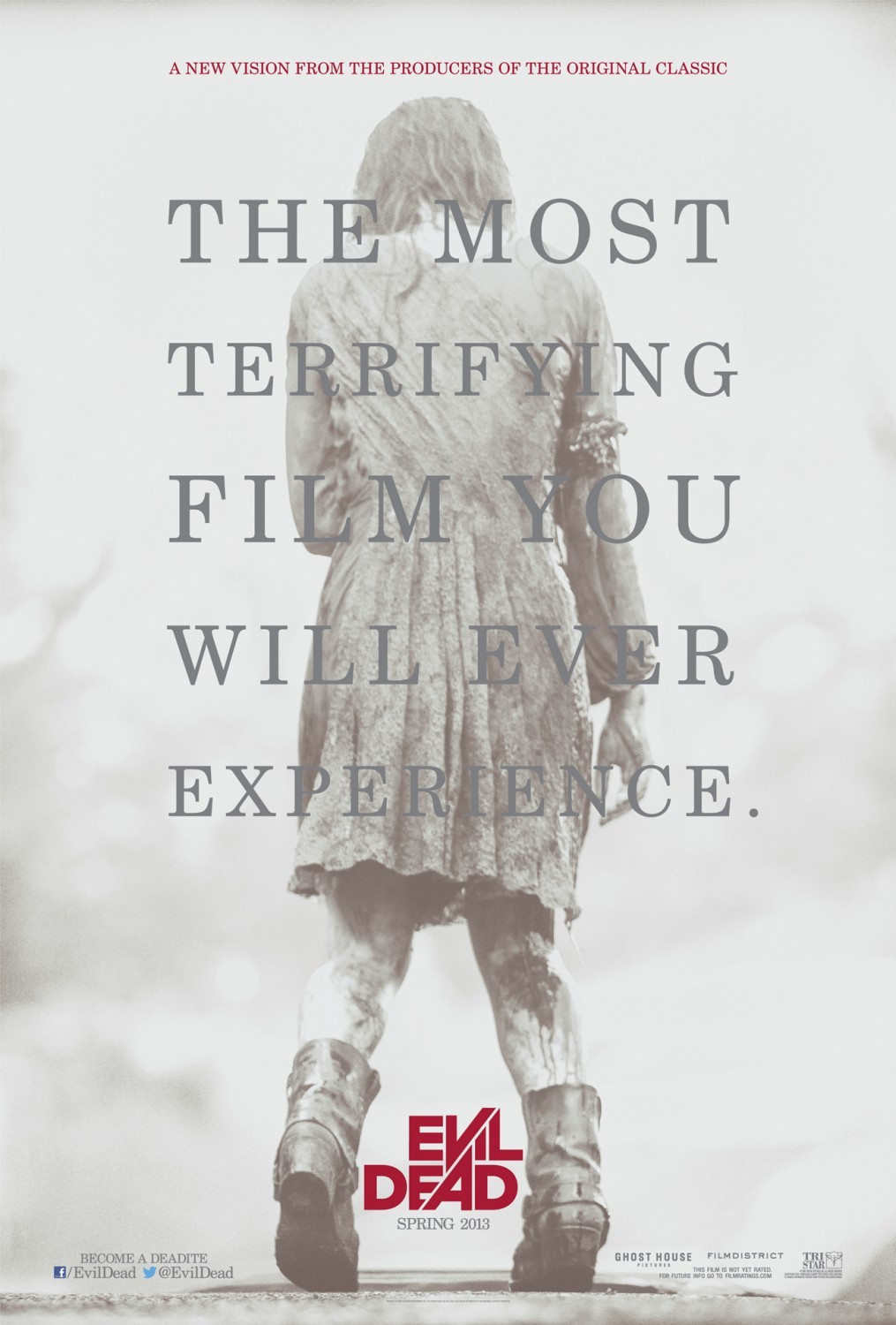 jasonfnsaint:  Just Watched: Evil Dead (2013) Wow. I loved it. I can't even begin to express how much I liked this movie. I like the campyness, I like the identification of terror, I like the gore, I like the characters… I just really, really love this. If you don't, you're a dumb butt and I hope none of your friends ever want to play with you again. In all seriousness, I didn't know what to expect. I didn't watch the trailer, I tried not to look at pictures or videos from the movie, I didn't read any reviews, nothing. I just went in hoping to see a good movie and was very pleased. The original Evil Dead from 1980 has absolutely no comparison to this movie. Of course, the details like the cabin, the possessions, and the campy lines are there, but as far as quality, characters, imagery, it's all completely different. Oh, and Ash Williams? There's no Ash Williams. Some people are bitching about that from what I've seen and I'm thinking, will there EVER be another Ash? Could any remake with a re-casting of Ash ever be worth a shit? No. There will never be another Bruce Campbell as Ash, so why even bother considering that it could happen?  Instead, we don't get a hero. We get a set of people who are trapped in pure Hell, surrounded by evil and desperate to escape. Does it make sense? No. There's a lot of shit in this movie that doesn't make a ton of sense, but it doesn't HAVE to. It's a movie. Did Avatar make sense? Did Inception? Did American Pie, for that matter? No. I didn't go into Evil Dead expecting to see a completely logical film, I just wanted to see maniacal madness and macabre gore. And, you know, I was satisfied. 10/10, would recommend. No complaints, no criticisms, just another great Sam Raimi film that I can't wait to own on BluRay.