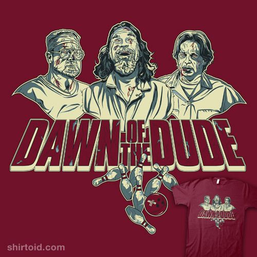 shirtoid:  The Dawn of the Dude by Chris Morkaut is available at Redbubble