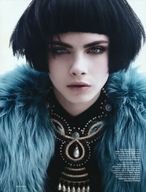 suicideblonde:  Cara Delevingne photographed by Greg Lotus for Vogue Russia, September 2012