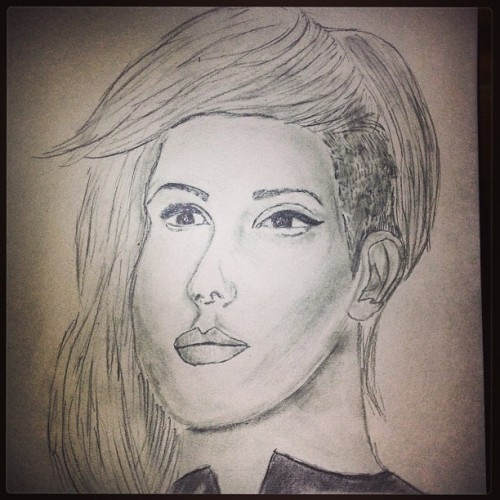 Ellie Goulding sketch I did today.