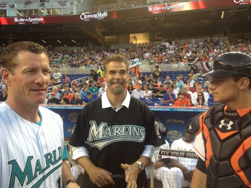 marlins:  Opening Night First Pitch: 20 Years of Memories!