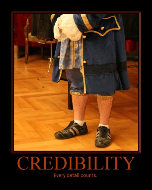 Credibility - every detail counts.