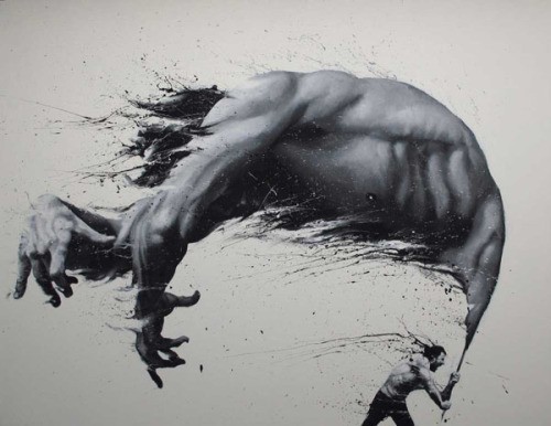 Artwork by Troilo54 Painting by Milan, Italy-based artist Paolo Troilo aka Troilo54. More paintings by Paolo Troilo on WE AND THE COLORWATC//Facebook//Twitter//Google+//Pinterest