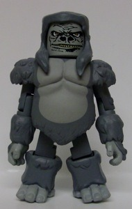 Out in 2008, Gorilla Grodd was part of a Minimate two-pack with the Flash. He's apparently slightly taller than most Minimates, which is appropriate.   It's a shame there haven't been any other Minimate Flash villains (not even a repainted Reverse Flash, which is weird), because I love these little figures.
