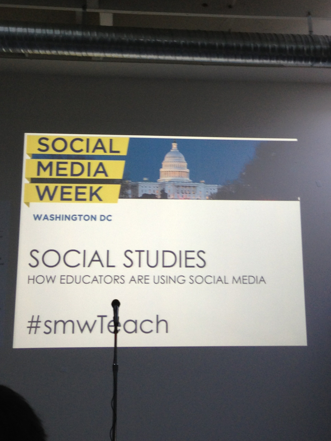 Tonight we're at Social Studies: How Educators are using Social Media.  Are you a teacher? Do you use Today's Document or other social media in the classroom?