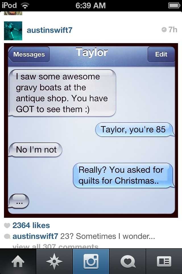 "thisfightisworthwhile:  blushingallthewayhomes:  Oh Taylor.  ""…"" LOL, She's so cute."