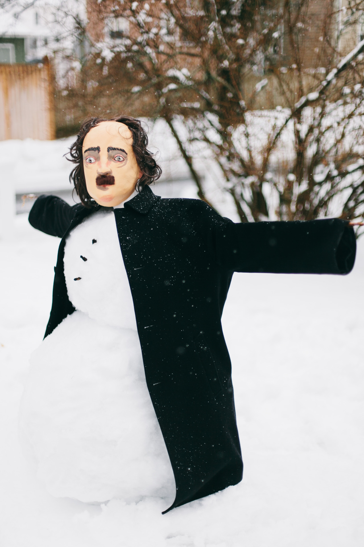 We built a Poe-man today, because, I don't know…have you met my husband?