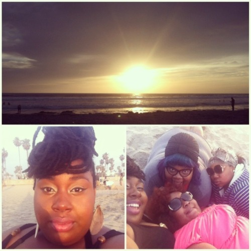 buttahlove:  Cuddling & watching the sunset with my chocolate babes.