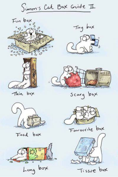 thefrogman:  Simon's Cat's Box Guide No. II by Simon Tofield [website | twitter]  Accurate