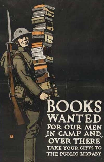 "vintageanchor:  WWI ""Books Wanted"" Posters"