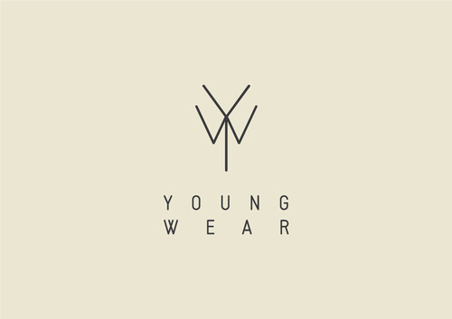 lylaandblu:      Young Wear Logo. Logo that resembles a shirt