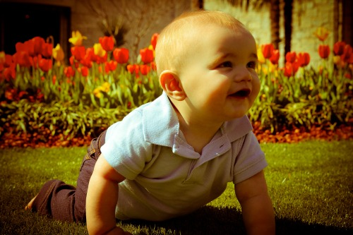 Ryan took this beautiful picture of Carson at the Dallas Arboretum last week! I'm pretty lucky to have such a talented husband and an adorable baby (who has some pretty rockin' eyebrows!) :)