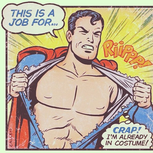 I LOL'd #dc #dccomics #superman #funny #instafun #instadaily #costume #red #blue #cape #fun #clarkkent #comic #job